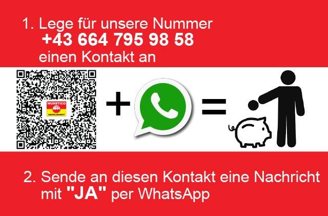 Wurstico auf WhatsApp