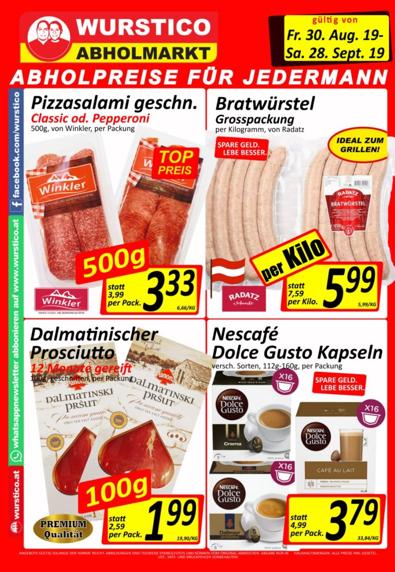 Wurstico Aktionen – September 2019 – 1